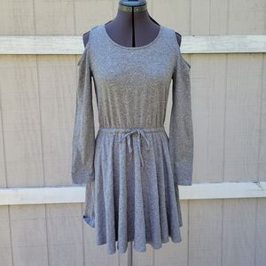 Anthropologie Anthro Lili's Closet Cut out Cold Shoulder Long Sleeve Dress Small